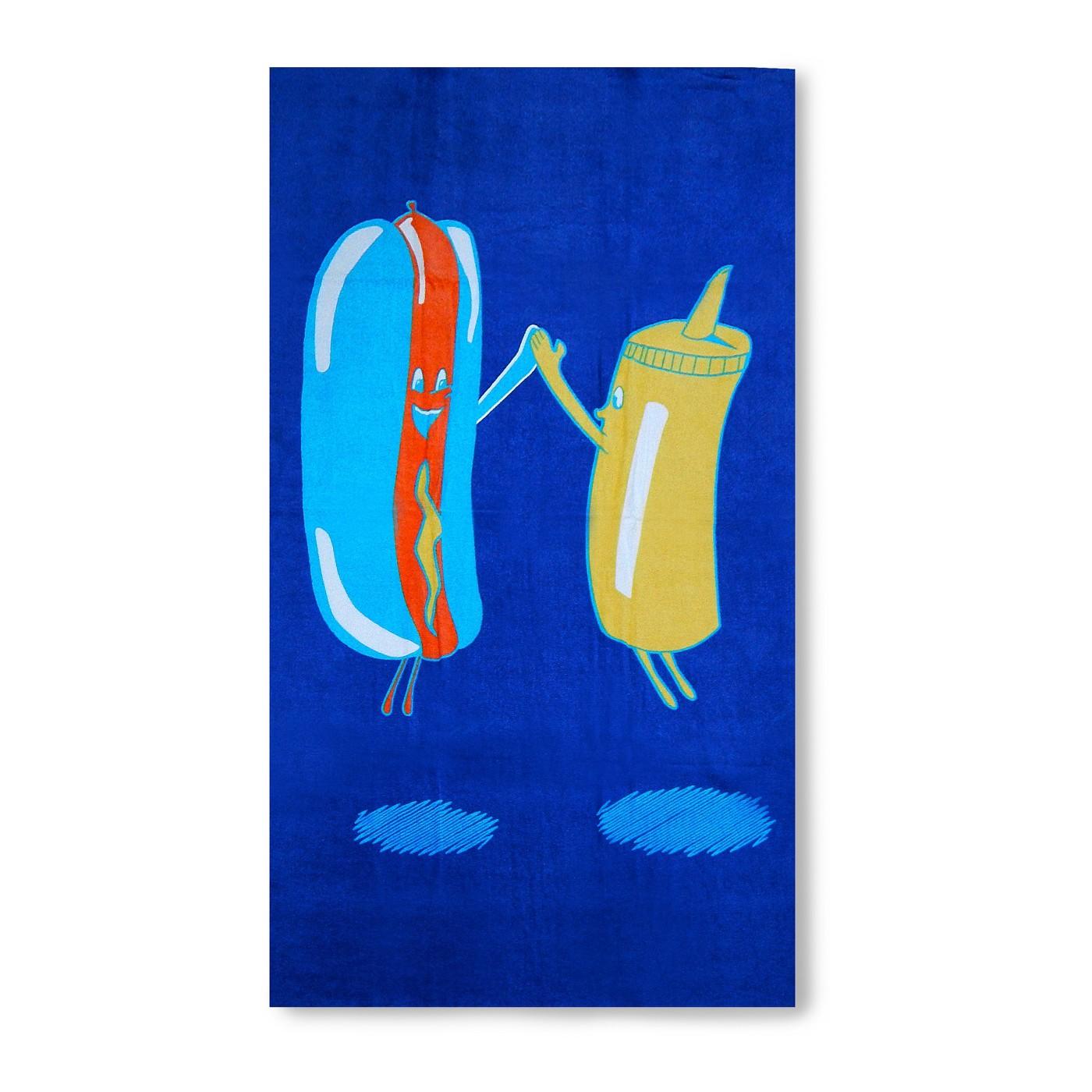 hot-dog-mustard-beach-towel-target