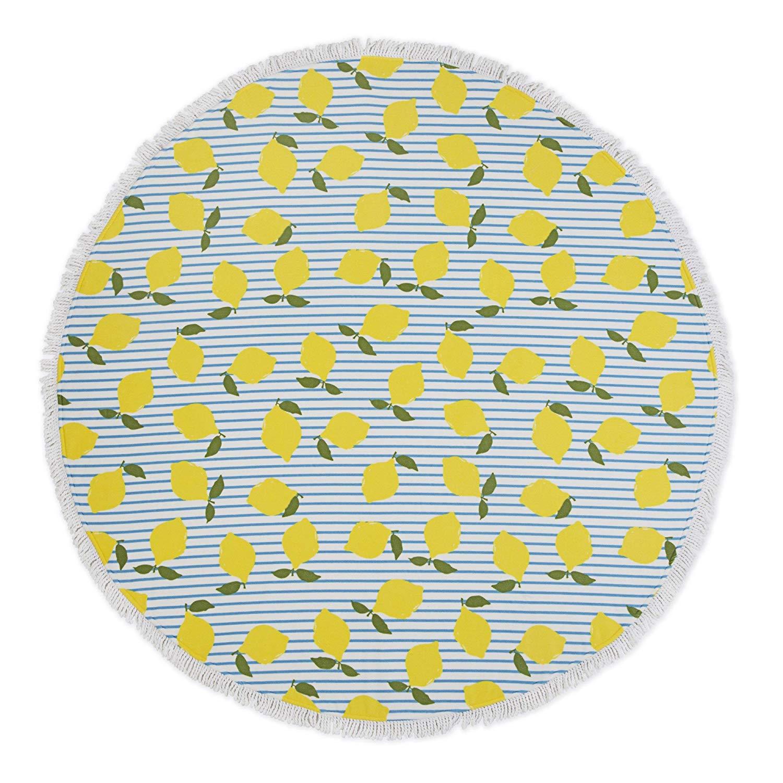 lemon-circle-beach-towel-amazon