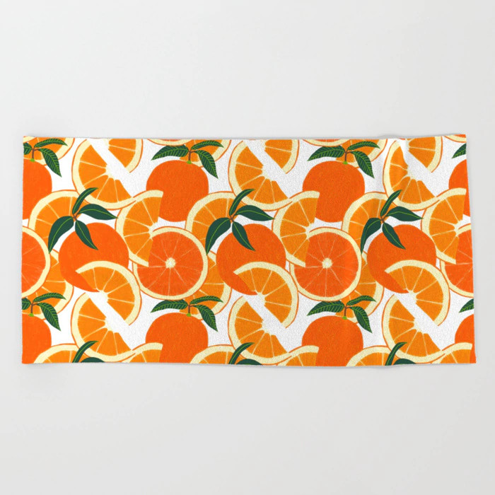orange-beach-towel-society6