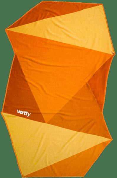 vertty-orange-geometric-beach-towel