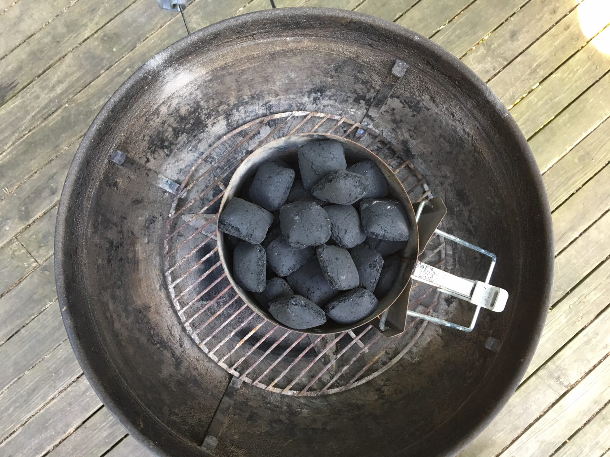 filled with coals