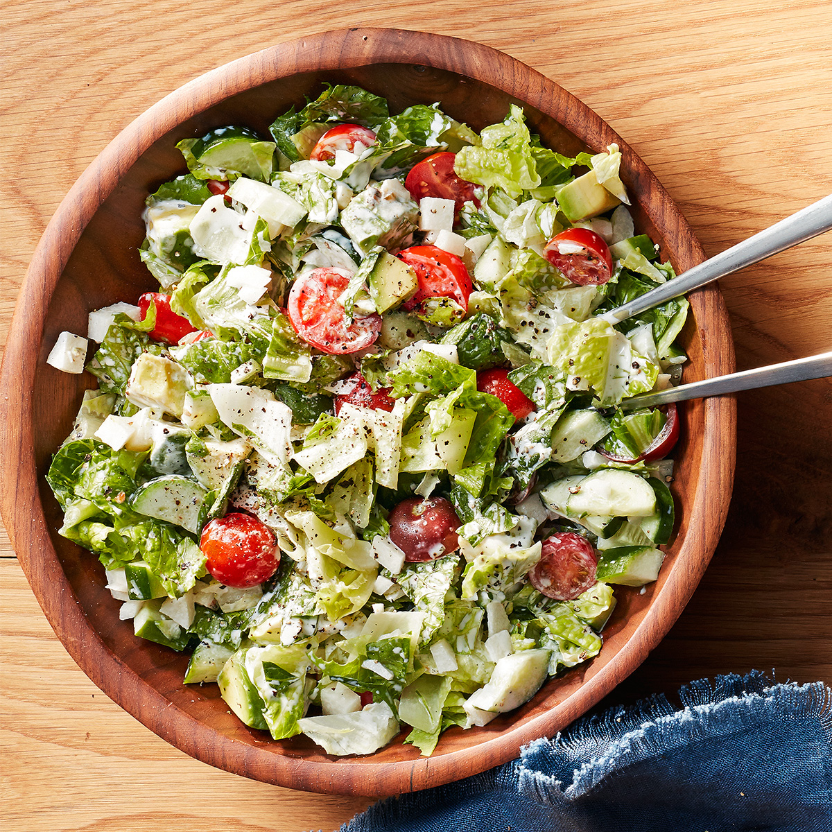 chopped salad with creamy lime dressing