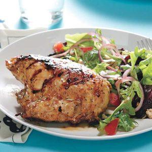 Grilled Lemon Chicken with Greek Salad