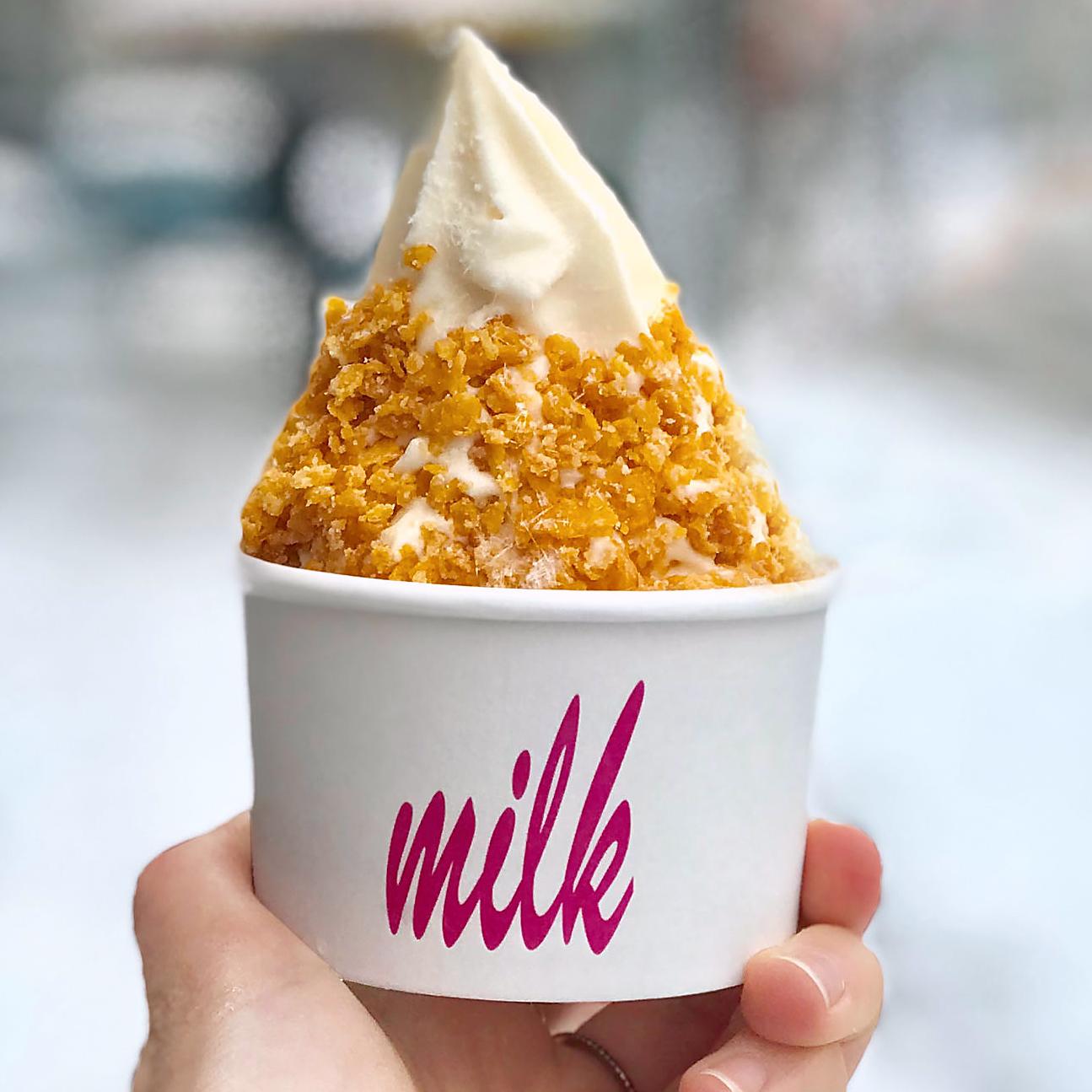 Cereal Milk soft serve at Milk Bar