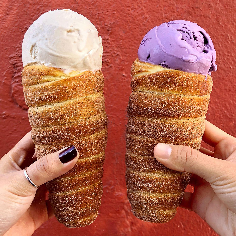 two Chimney cones at Garden Creamery