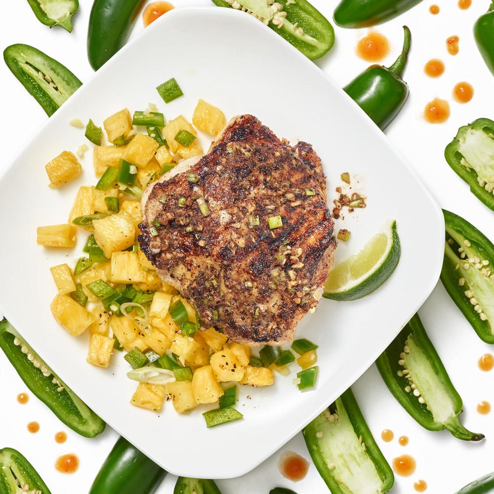 Jerk Chicken with Pineapple-Jalapeno Salsa