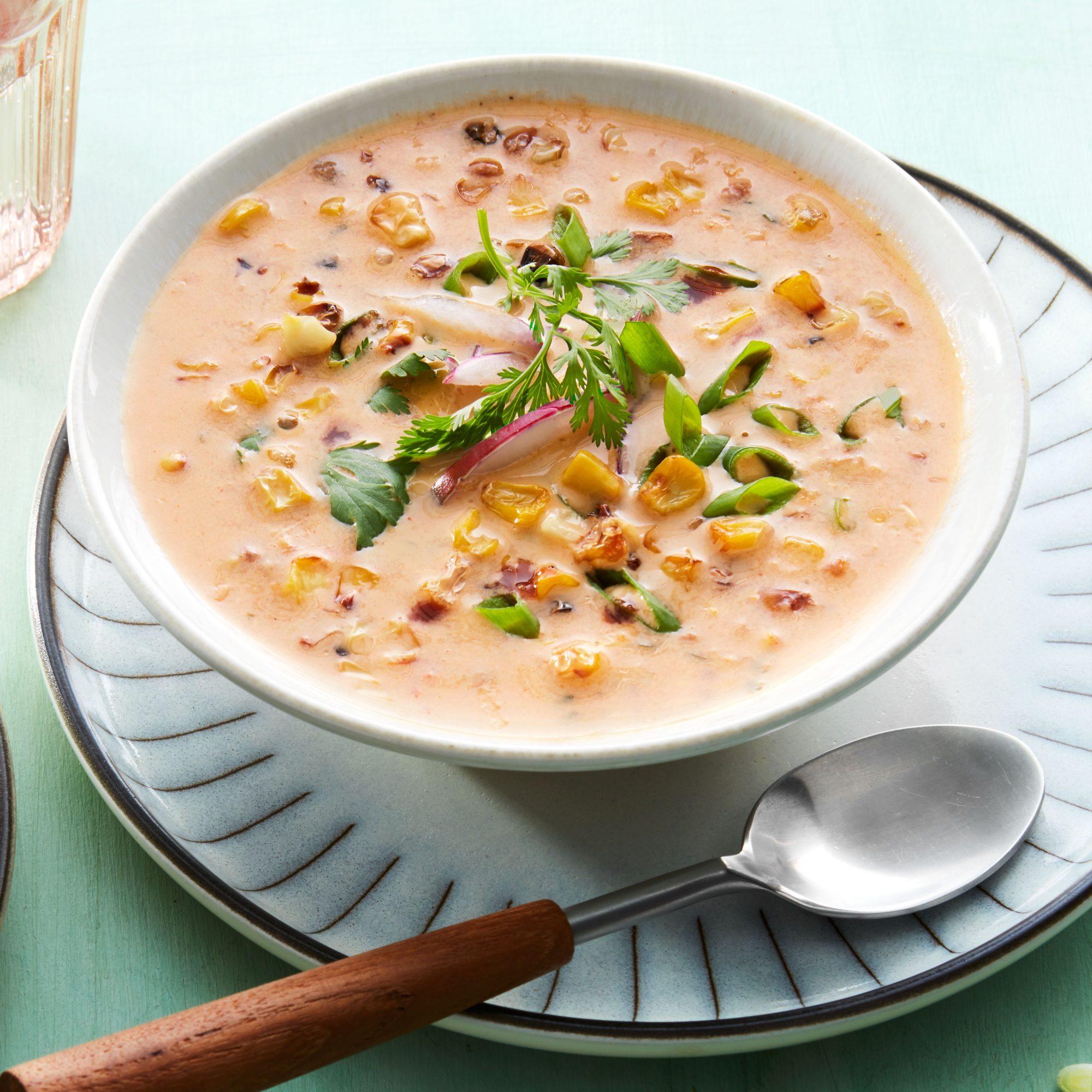 Smoky Roasted Corn Soup