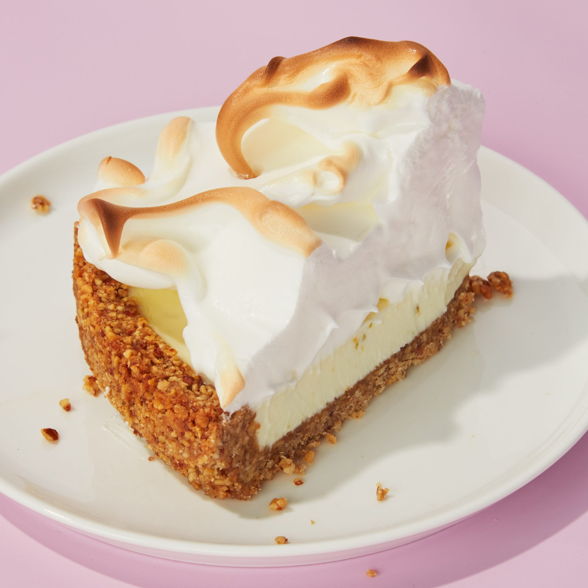 No-Churn Lemon-Lime Ice Cream Meringue Pie