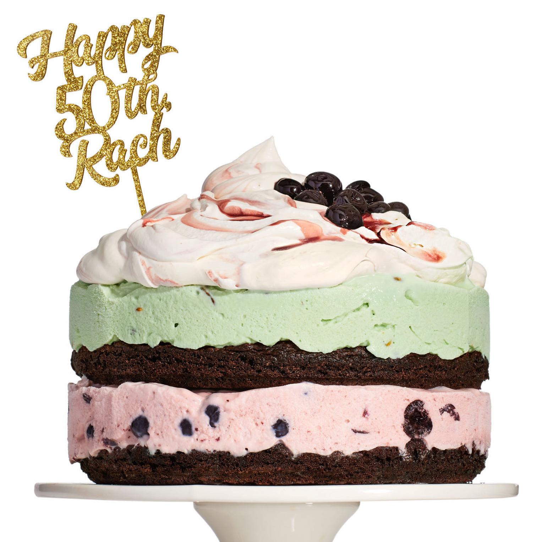 Spumoni Ice Cream Cake with Mascarpone Whipped Cream (a.k.a. The Rach)