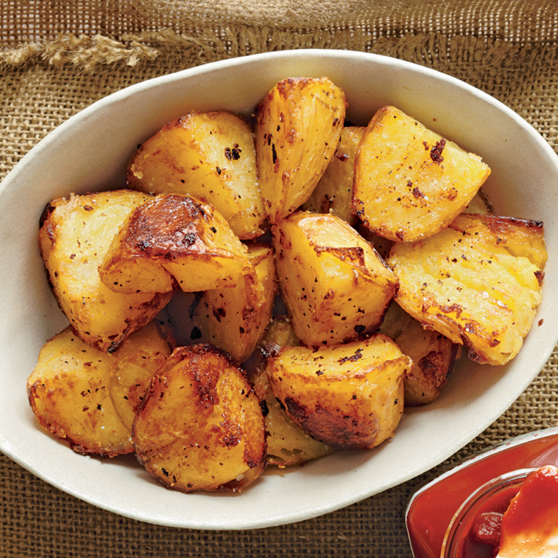 Golden Butter-Crisped Spuds