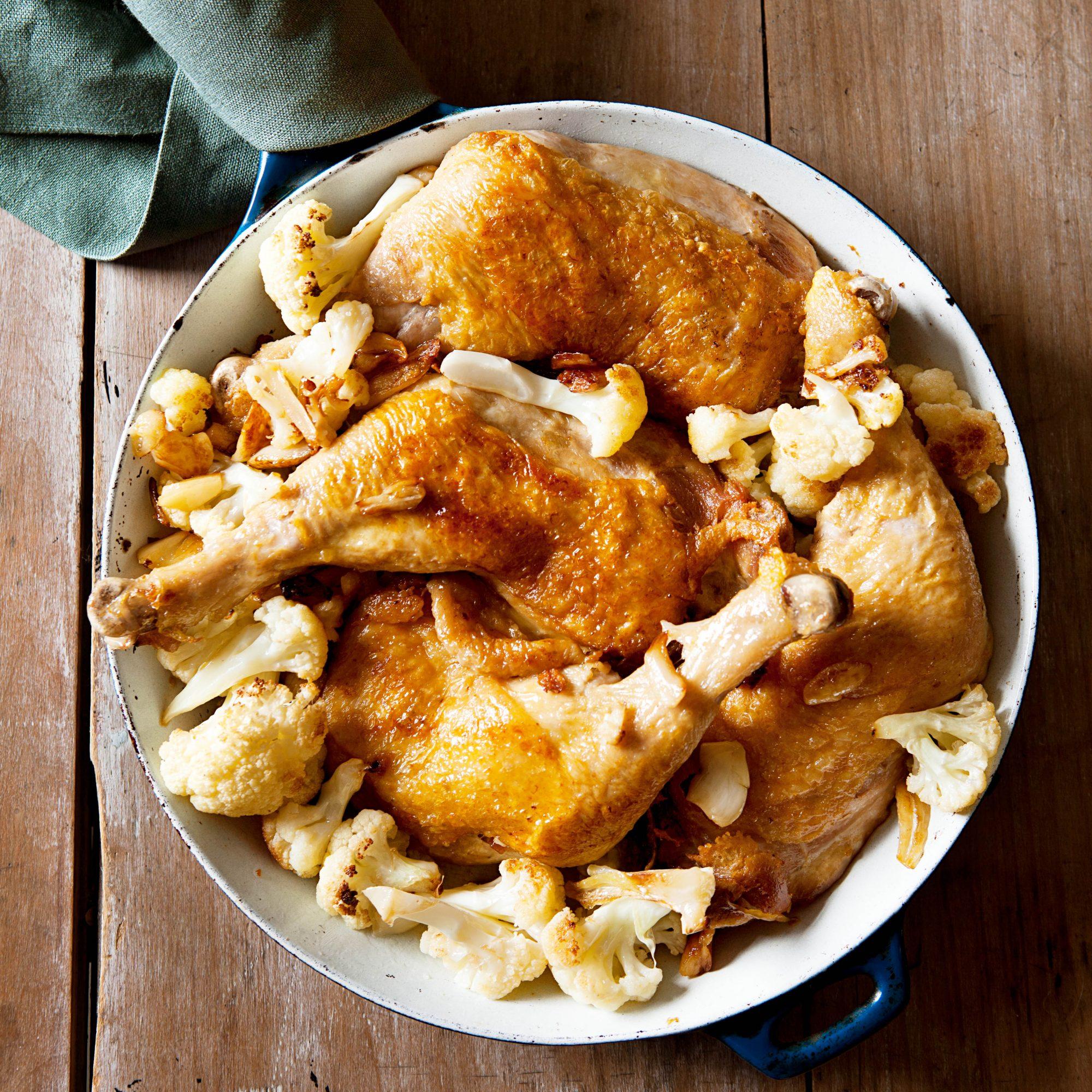 Roasted Chicken & Cauliflower