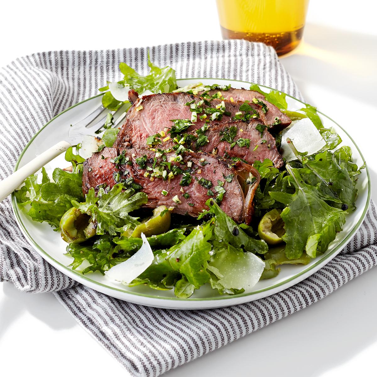 Steak & Kale Salad with Balsamic Vinegar & Parsley Gremolata