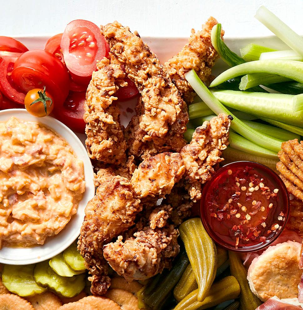 spicy buttermilk fried chicken strips