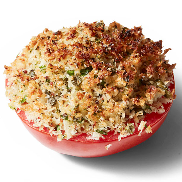 broiled tomatoes with crunchy topping