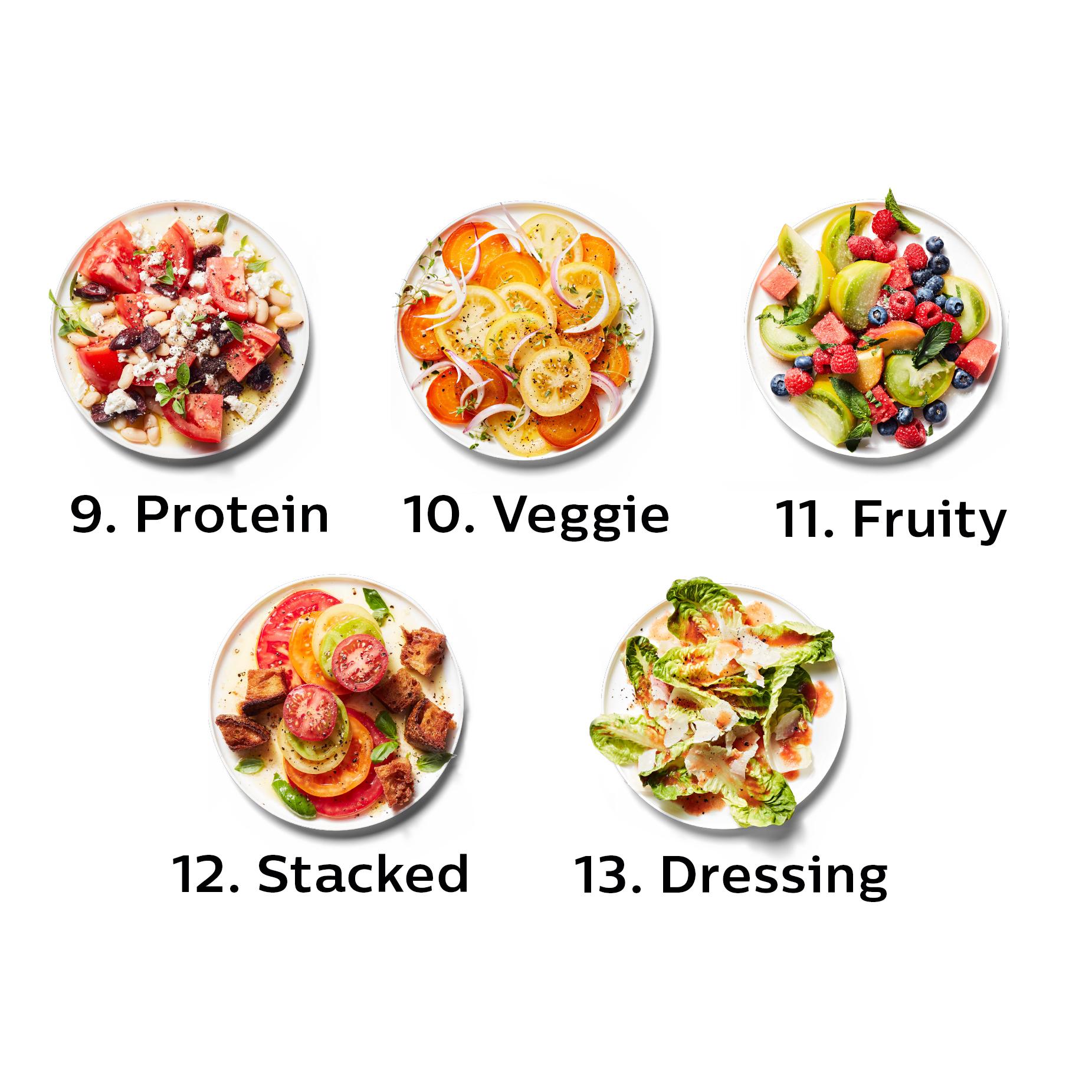 tomato salad pizza varieties