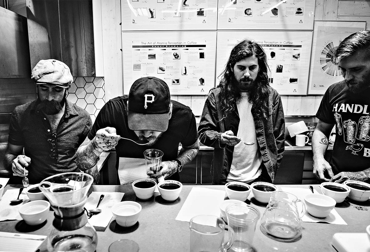 metric coffee men fans tasting