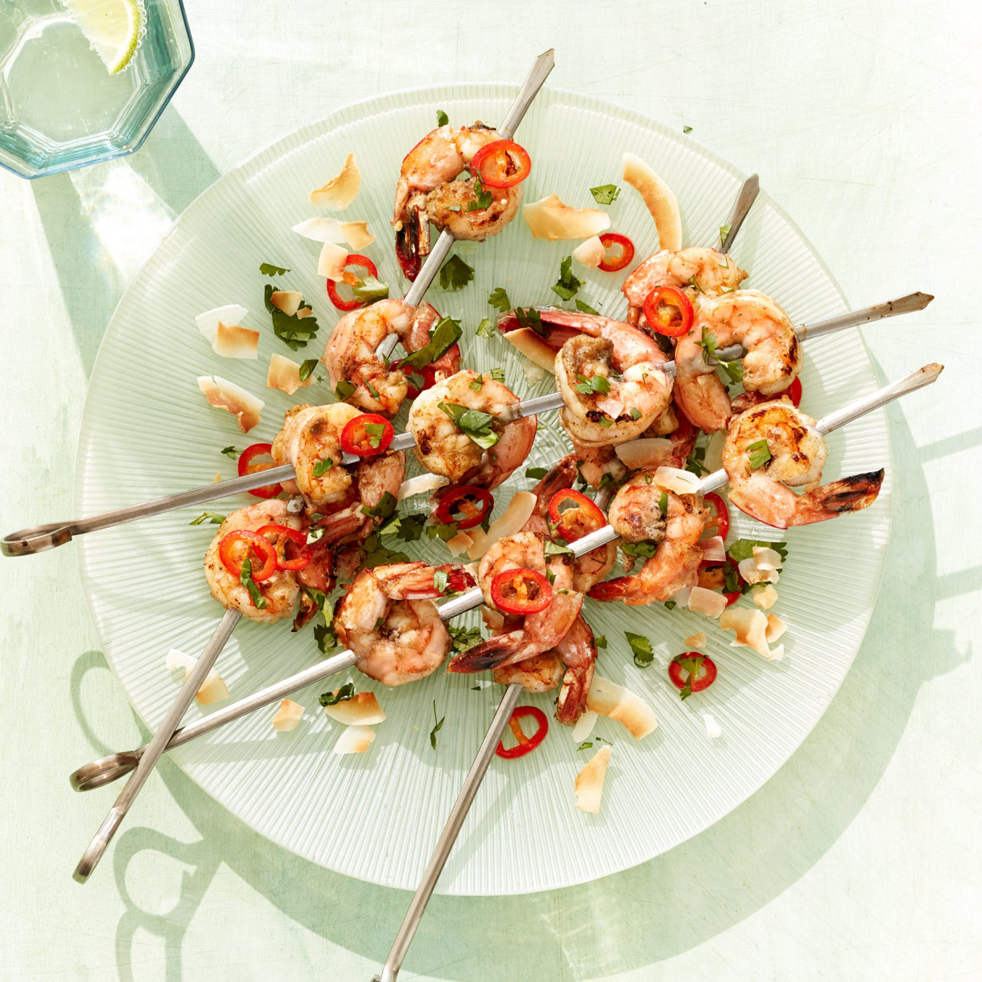 green curry shrimp skewers