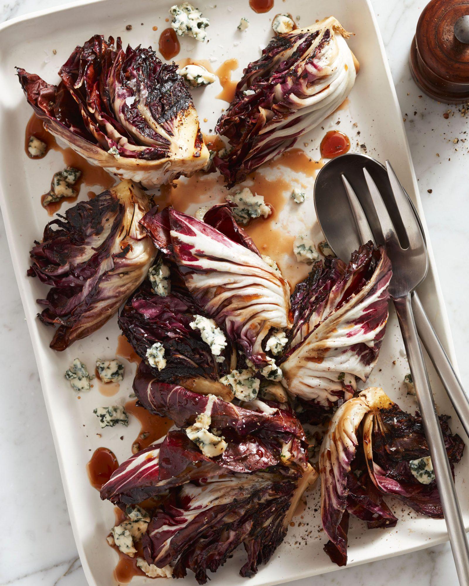 Grilled & Glazed Radicchio Wedges