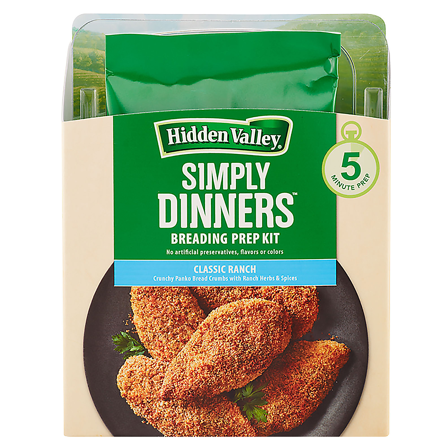 Hidden Valley Simply Dinners Classic Ranch Breading Prep Kit box