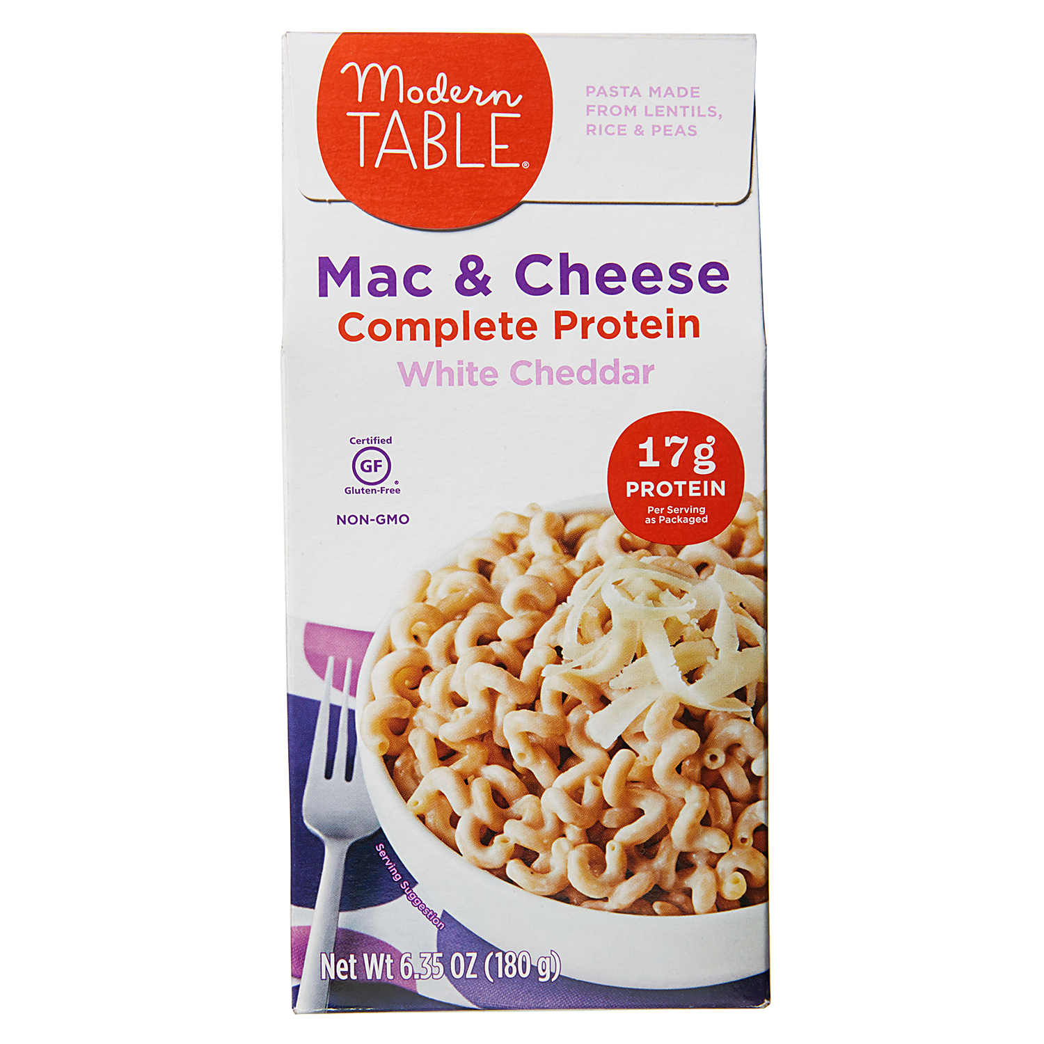 Modern Table Mac & Cheese Complete Protein White Cheddar package