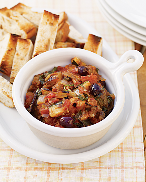 Grilled Caponata with Charred Bread