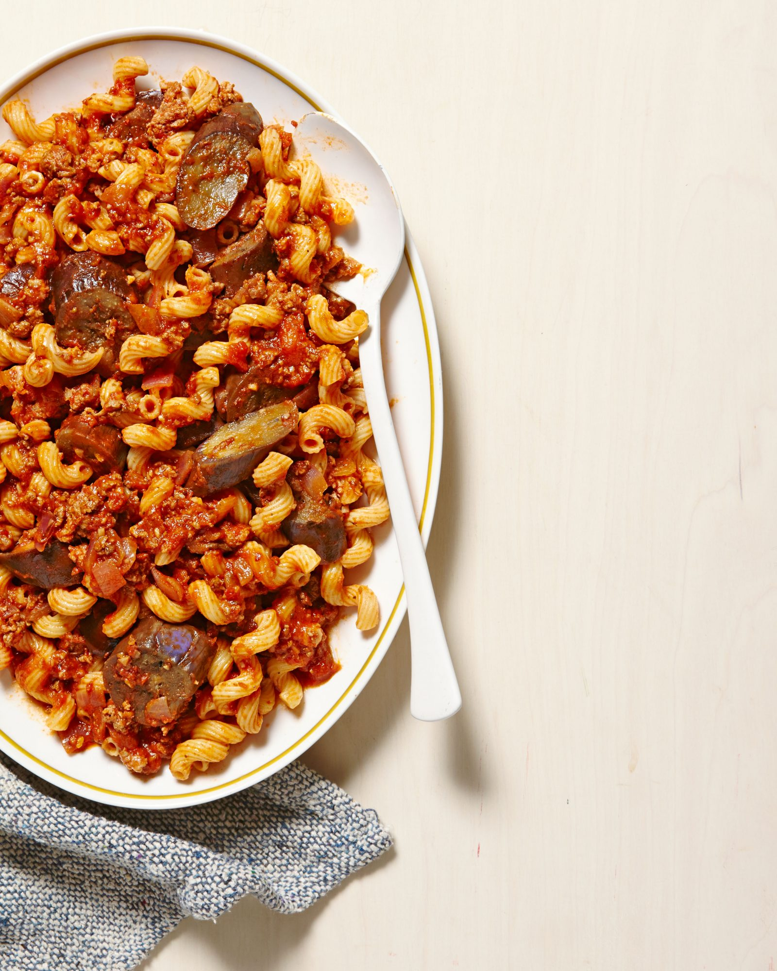 Lamb & Eggplant Ragu with Pasta