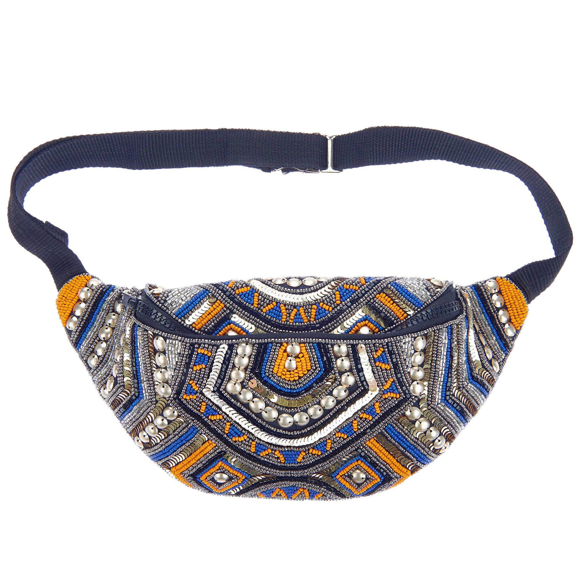 fanny pack st xavier kezzy waist bag in blue and orange