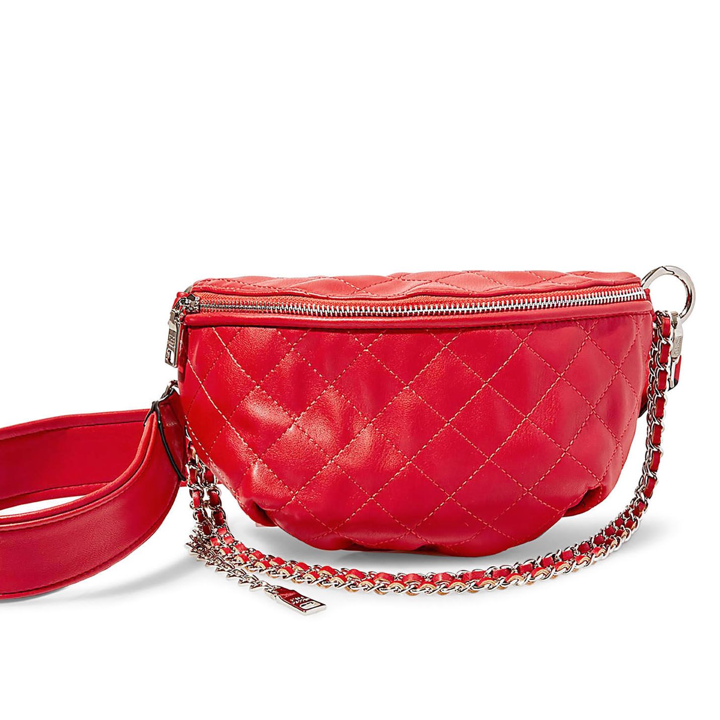 red leather fanny pack by steve madden