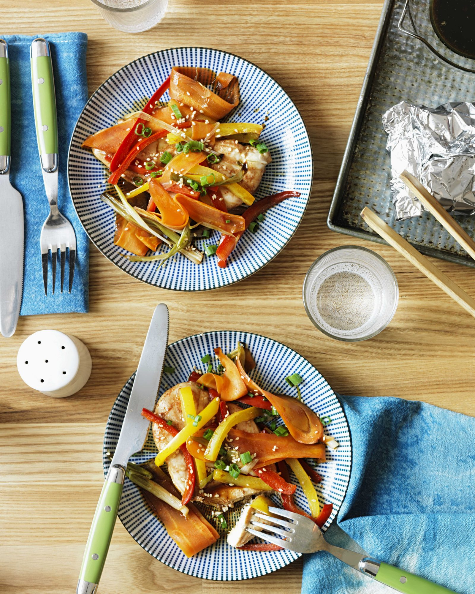 Asian Chicken & Vegetables in Foil Packets