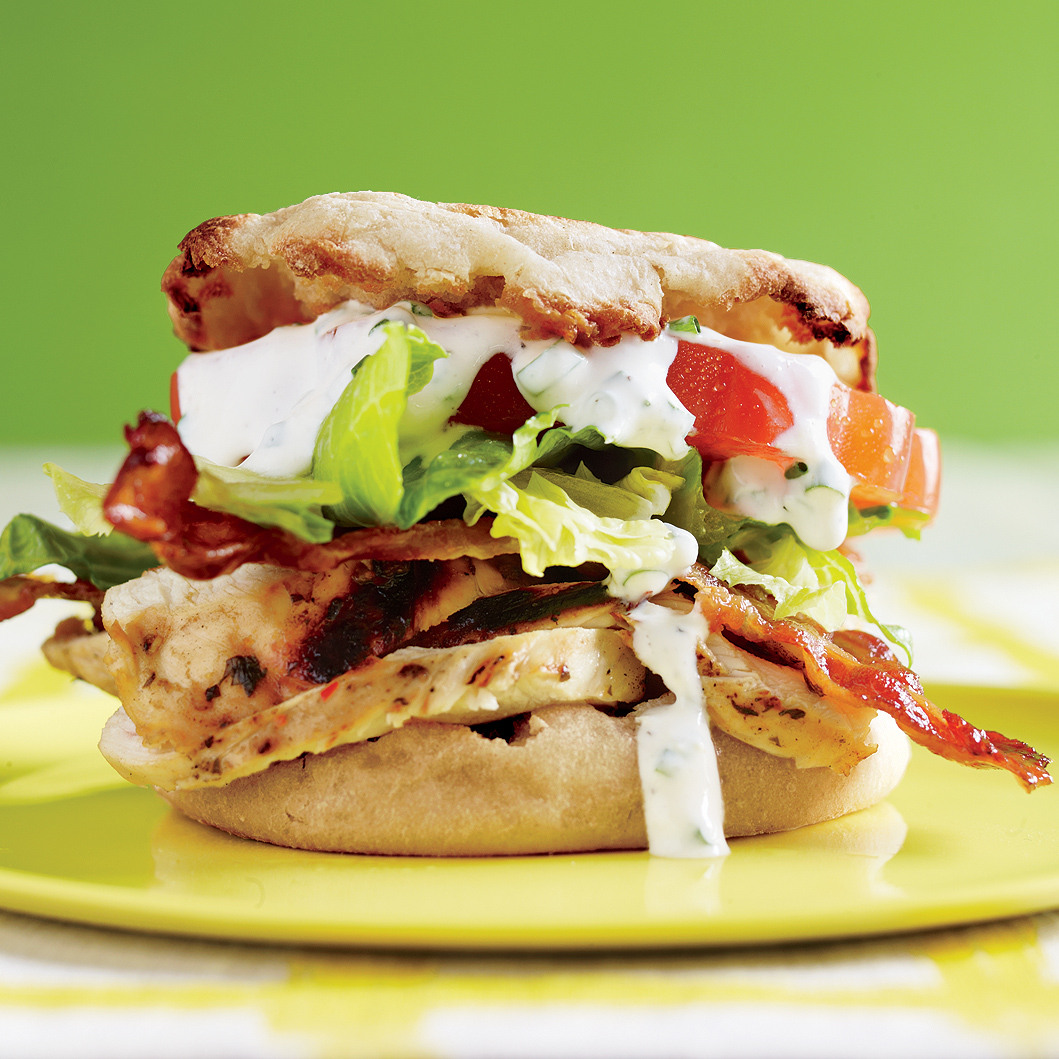 Chicken Club Sliders with Ranch Dressing