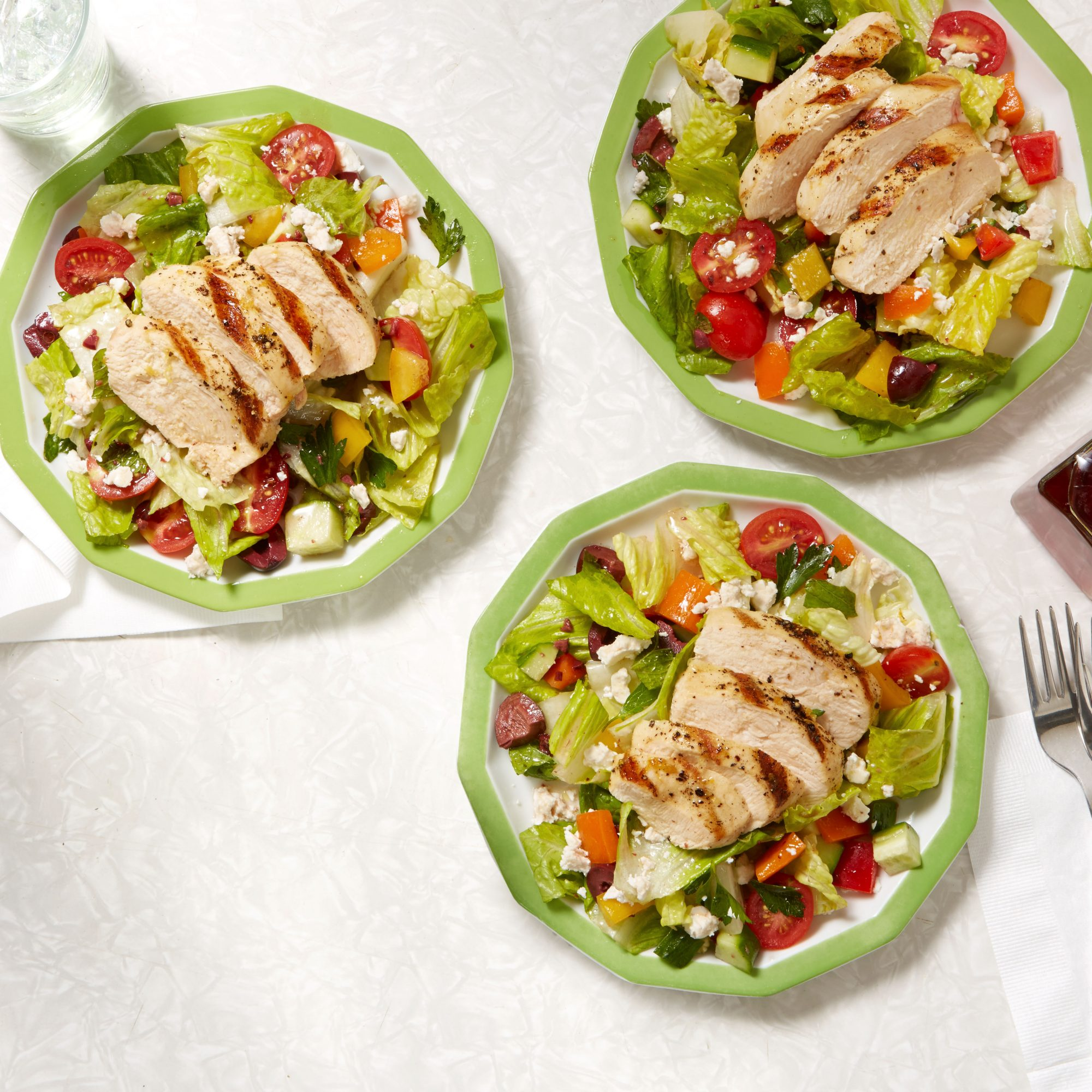 Chopped Greek Salad with Lemon Chicken