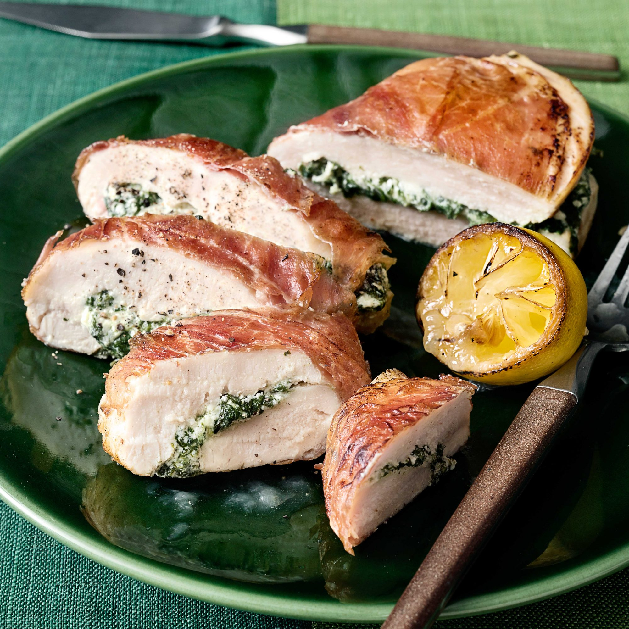 Prosciutto-Wrapped Chicken Breast Stuffed with Ricotta & Spinach