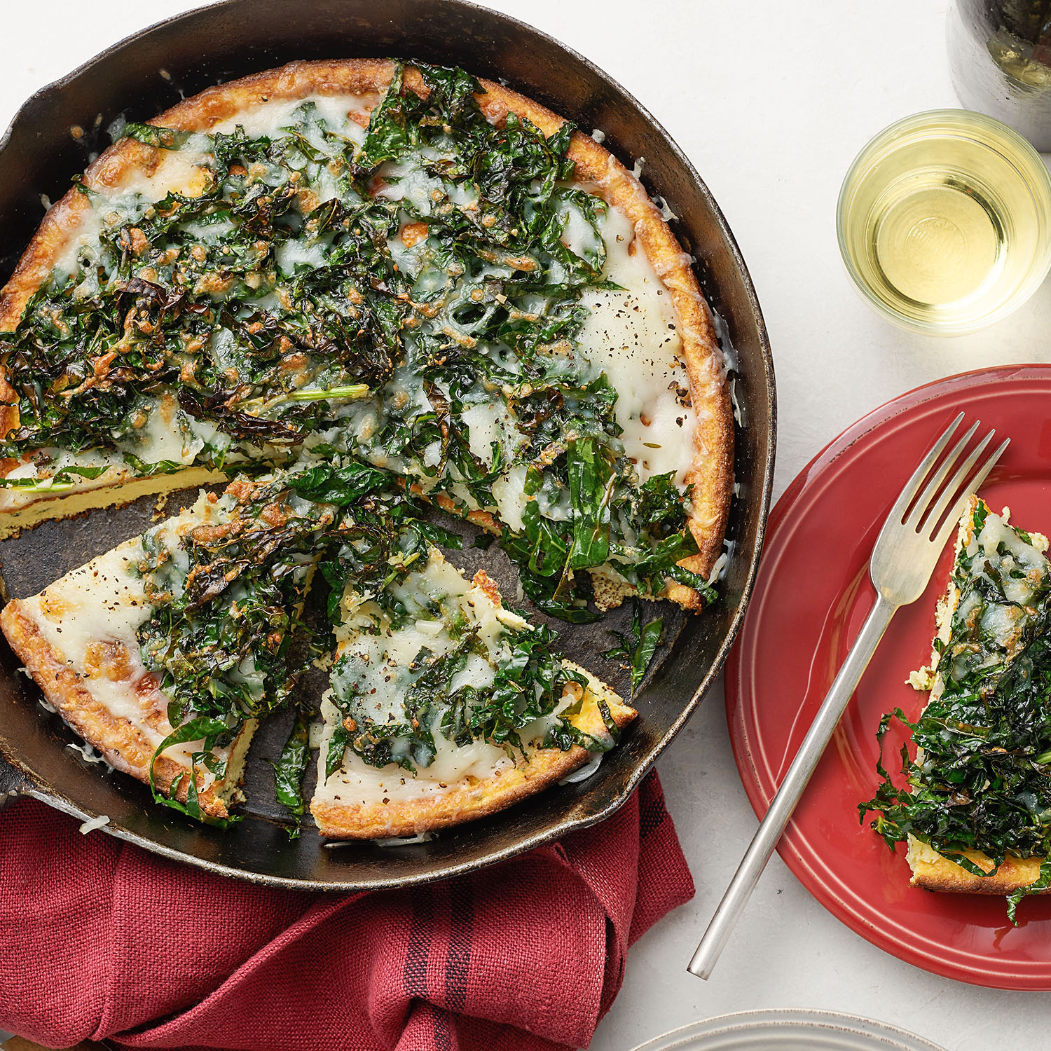 White Pizza Frittata with Kale