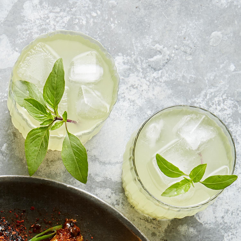 homemade thai-basil lemonade