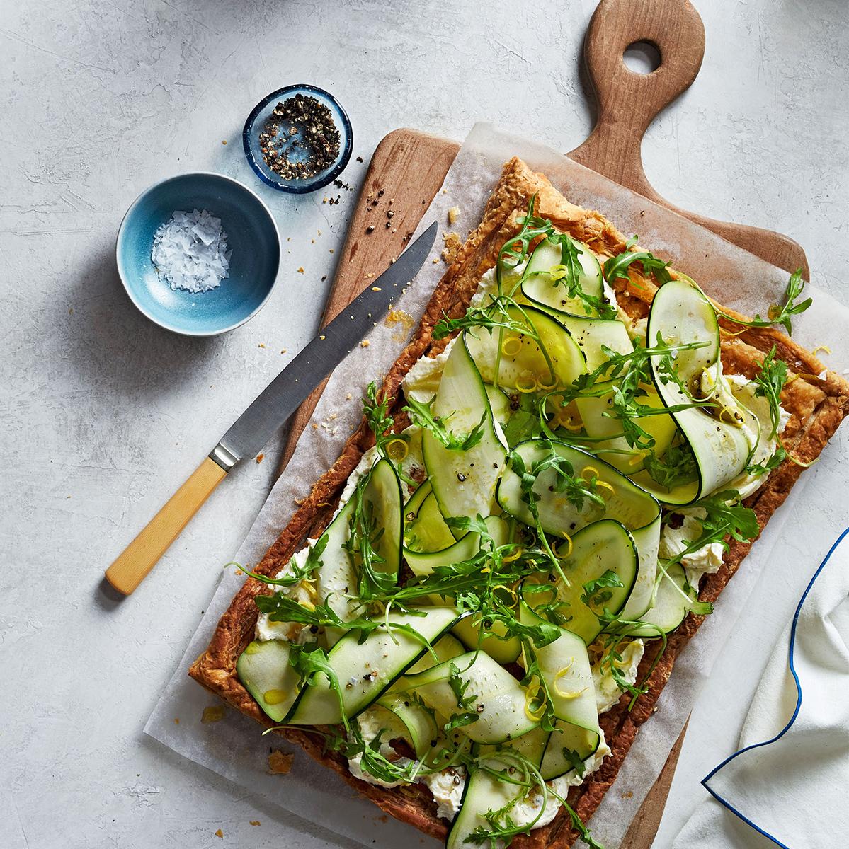 cheesy zucchini tart 0918