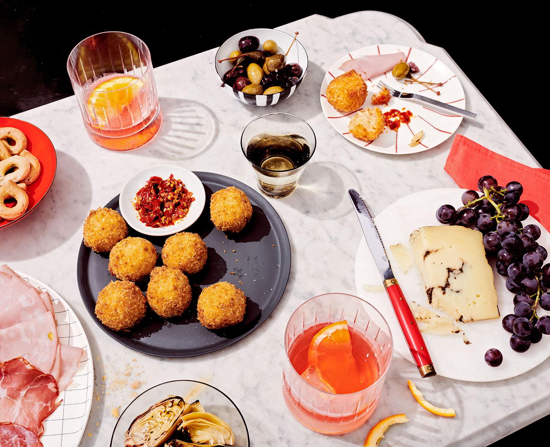 aperitivo italian happy hour spread
