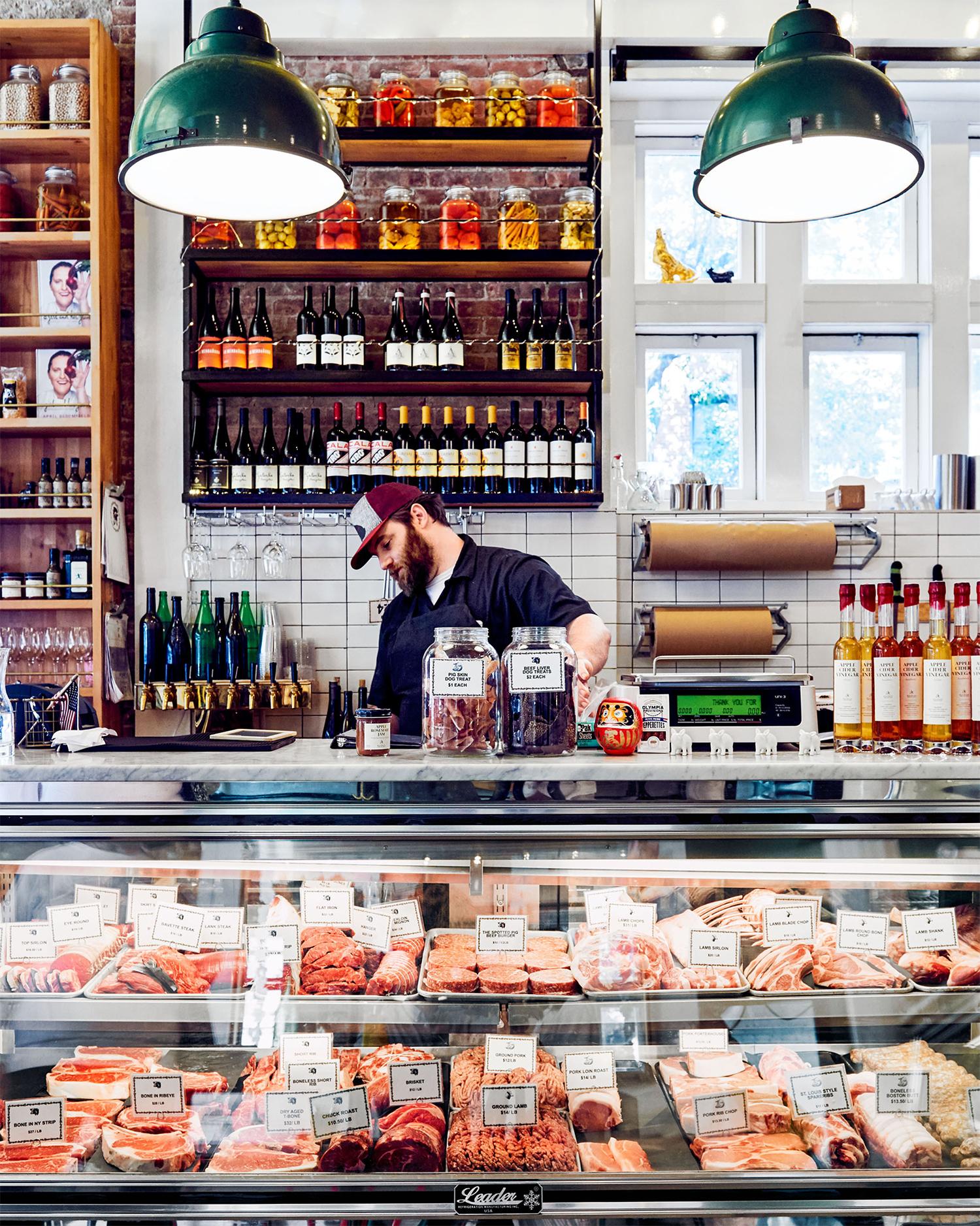 italian butcher shop meat display