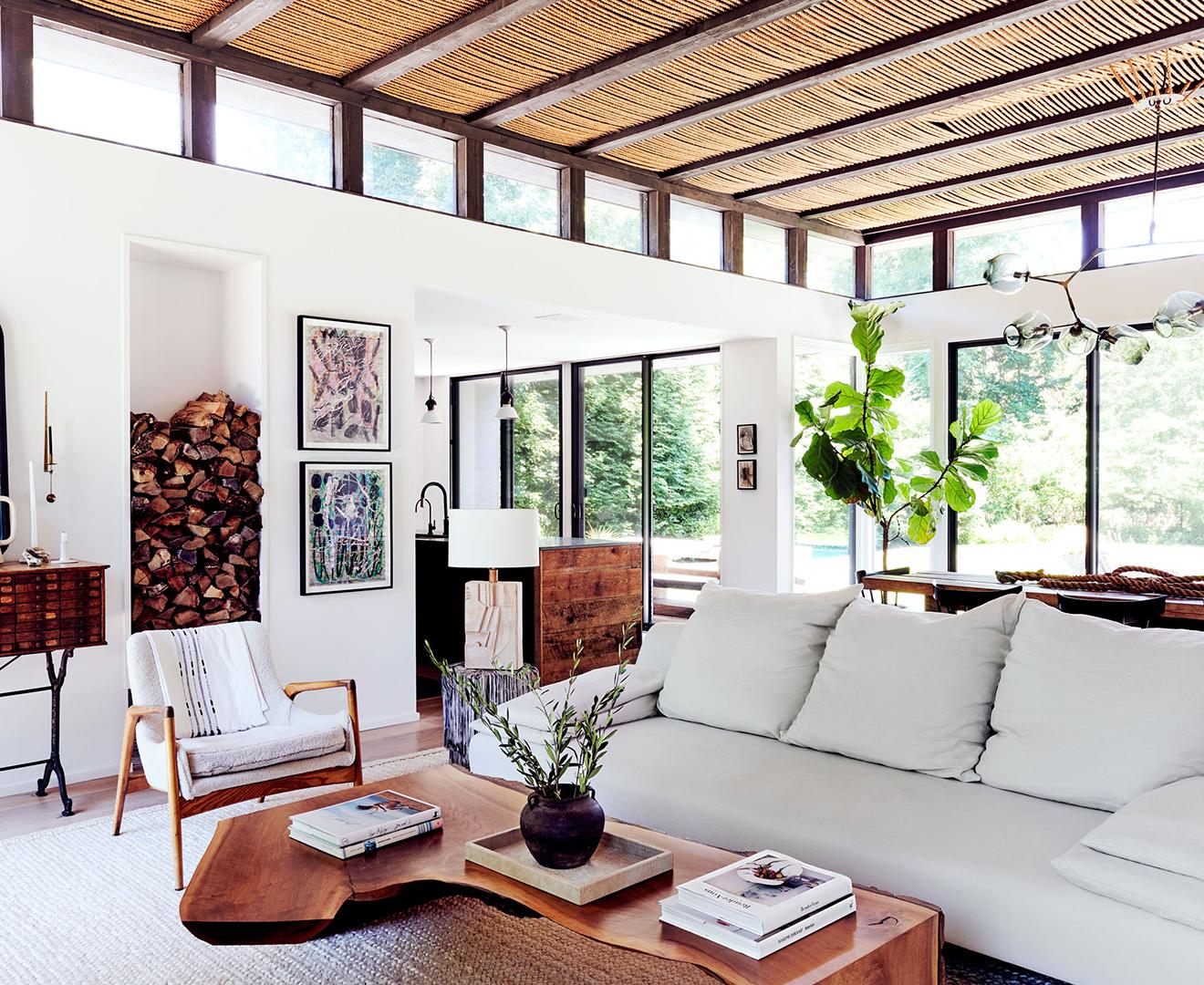 open rustic living room