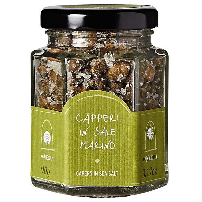 jar of capers in sea salt