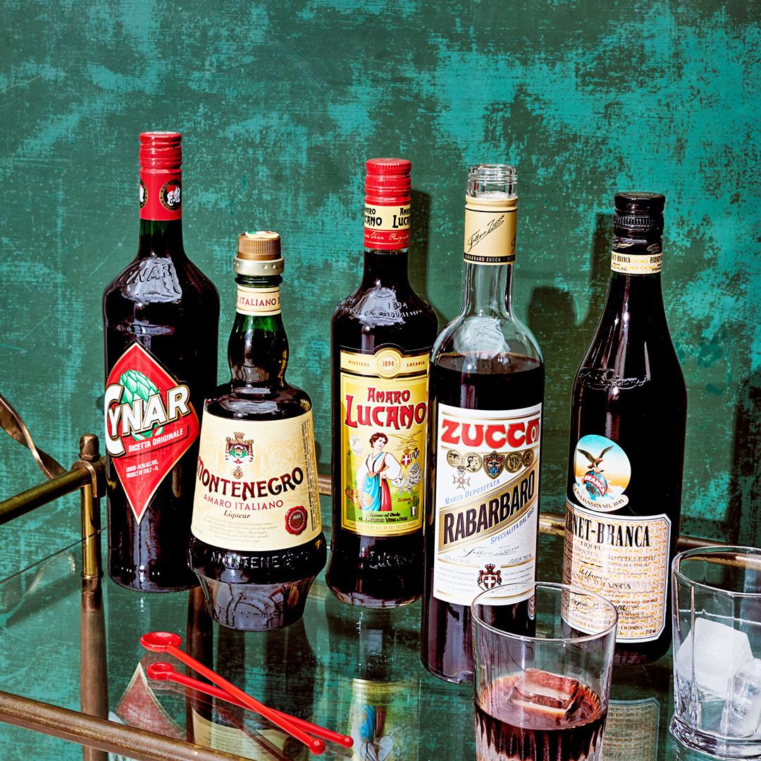amaro liqueur bottles