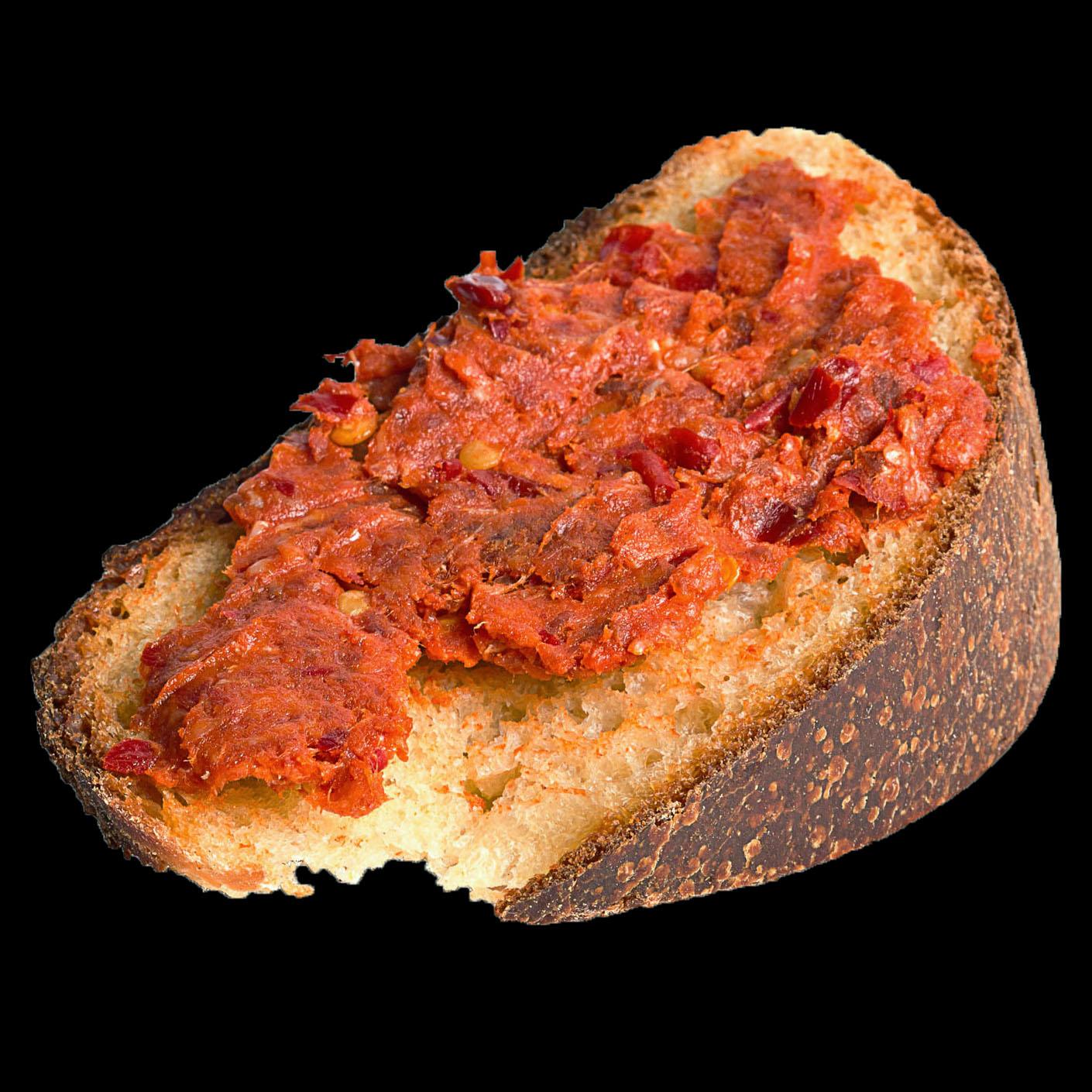 nduja bread with salami