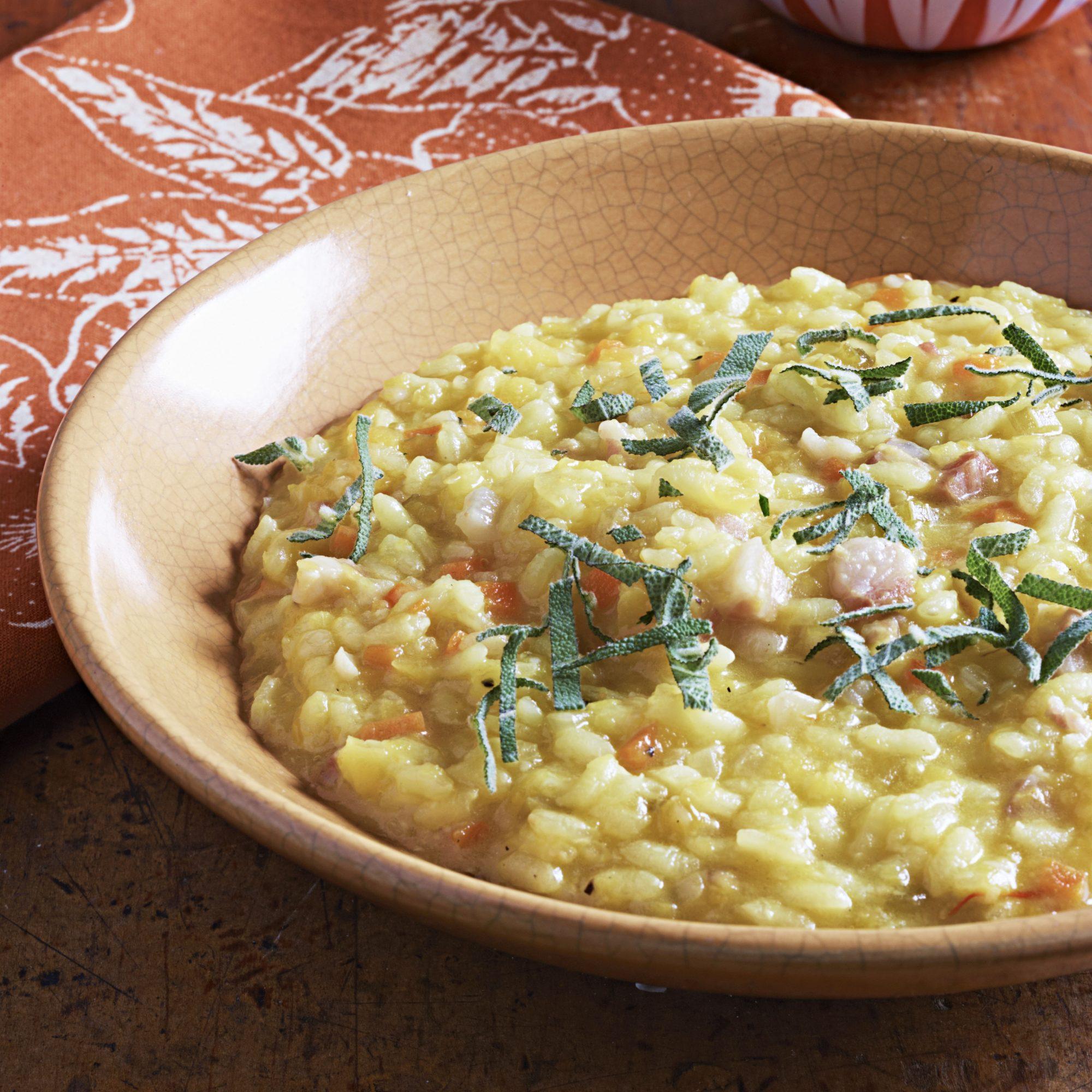 for saffron lovers: pumpkin risotto