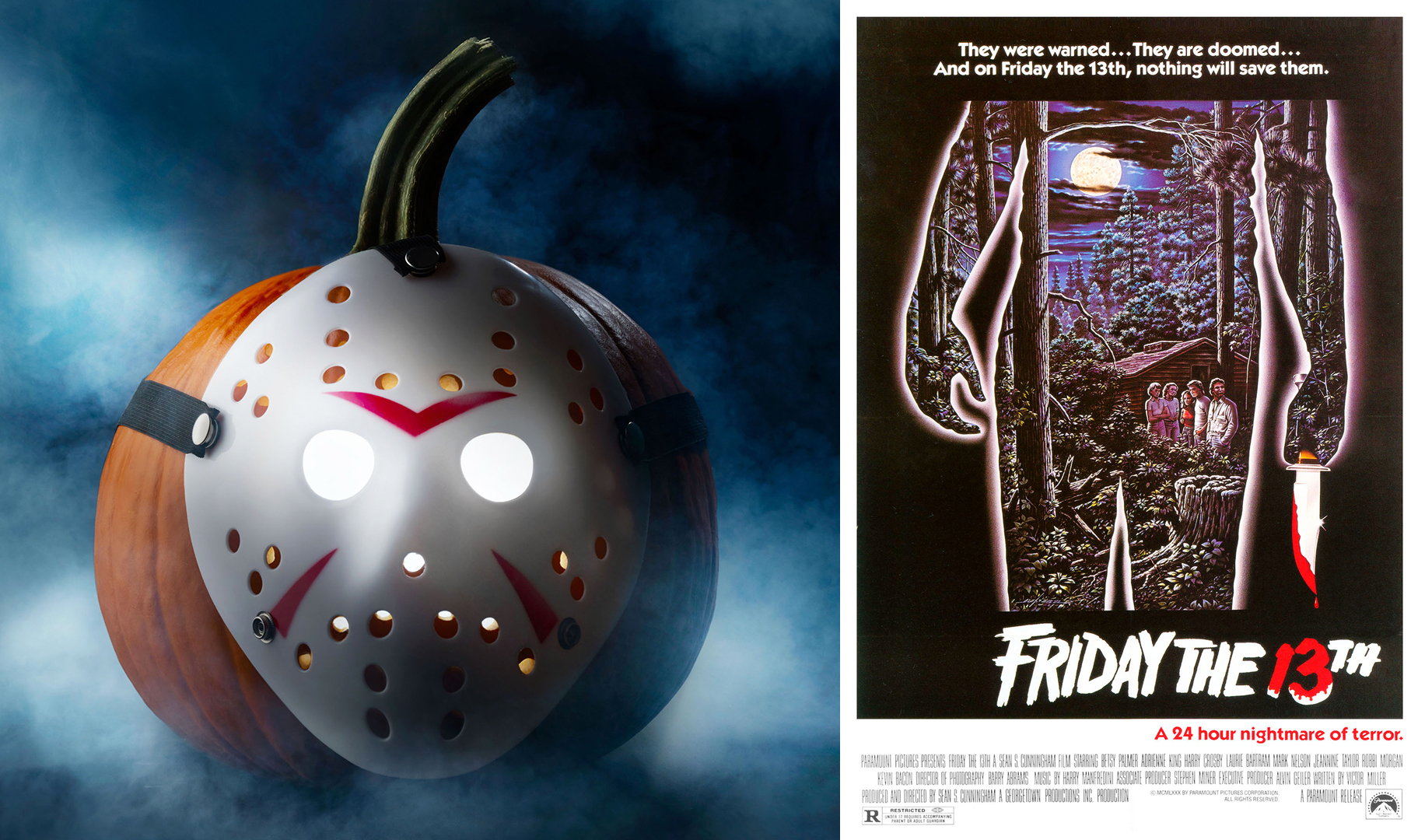 friday the 13th pumpkin and poster