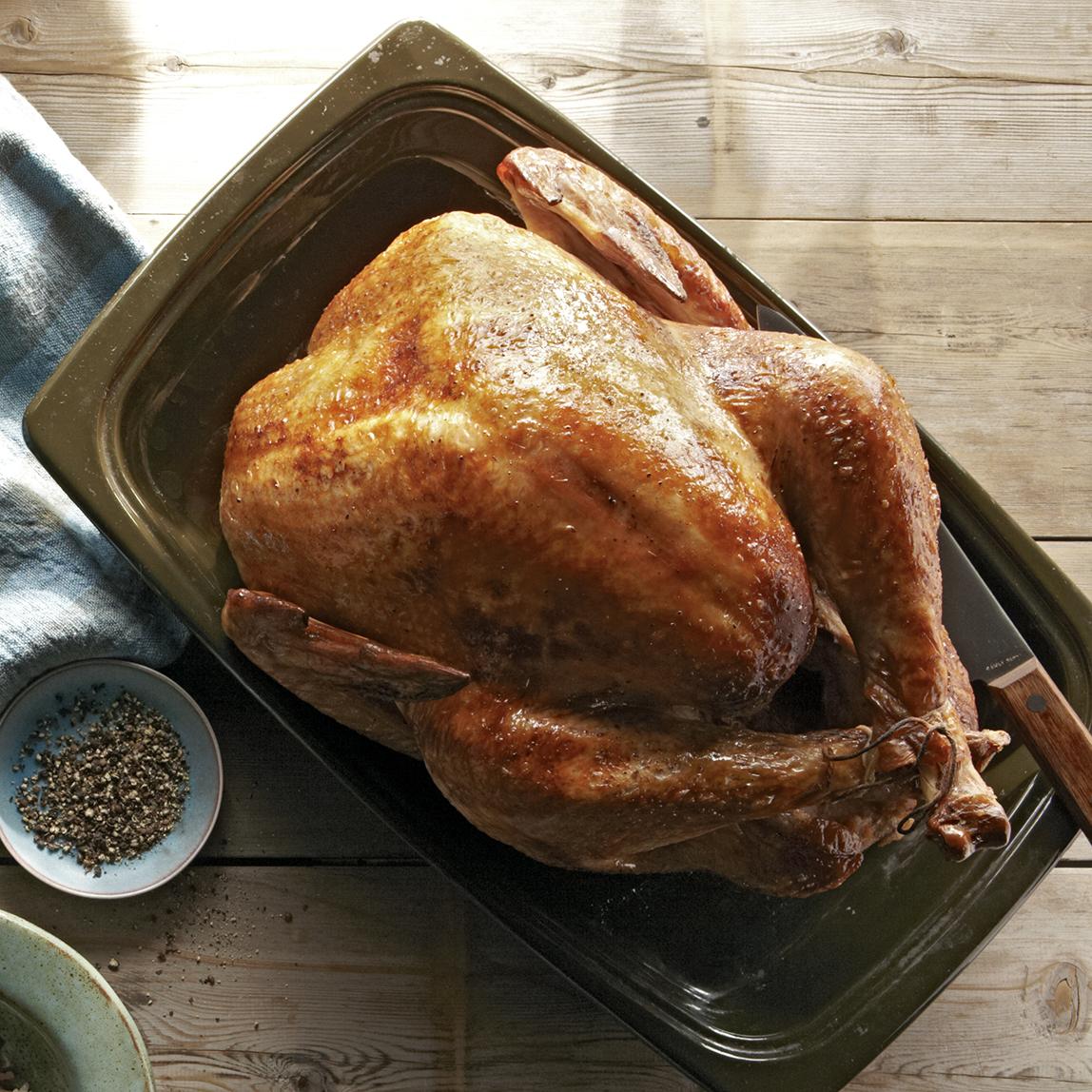 buttermilk-marinated turkey with onion gravy
