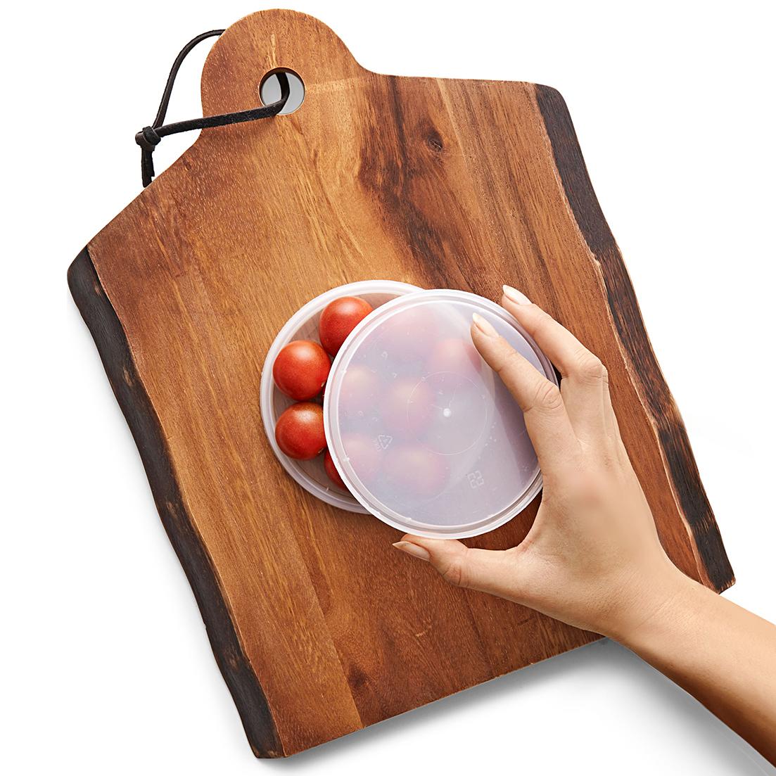 prep cutting cherry tomatoes hack