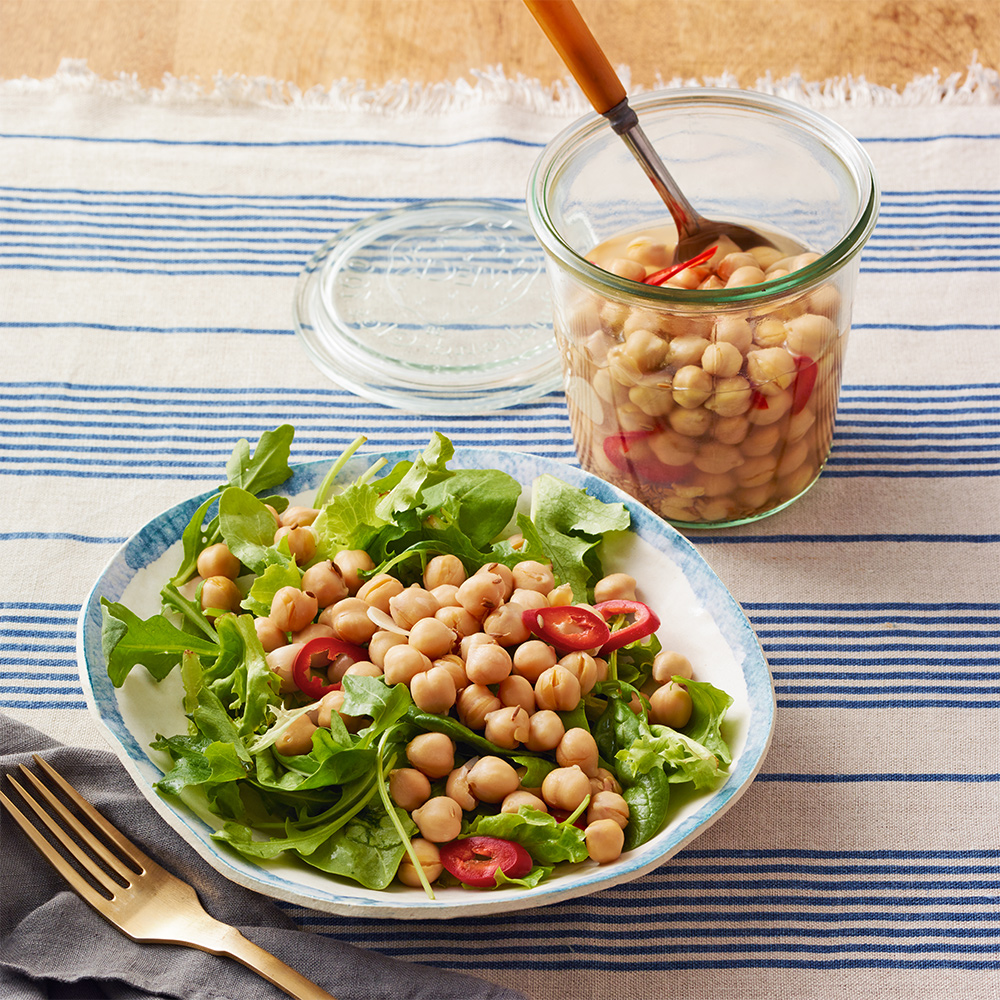 Spicy Pickled Chickpeas