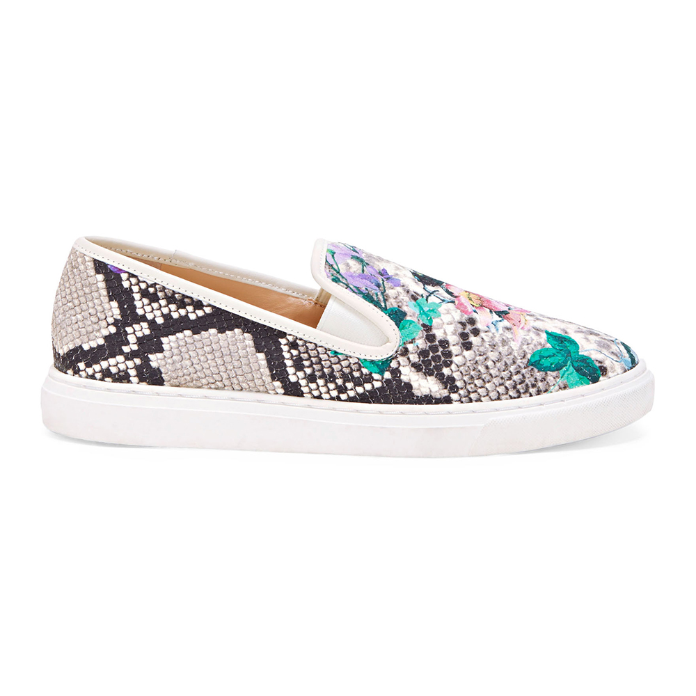 vince camuto beck slip on faux snake skin sneakers
