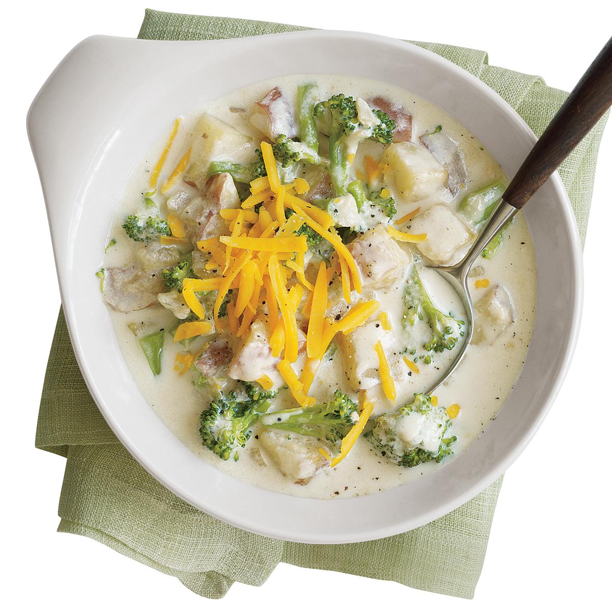 Cheesy Broccoli Potato Soup