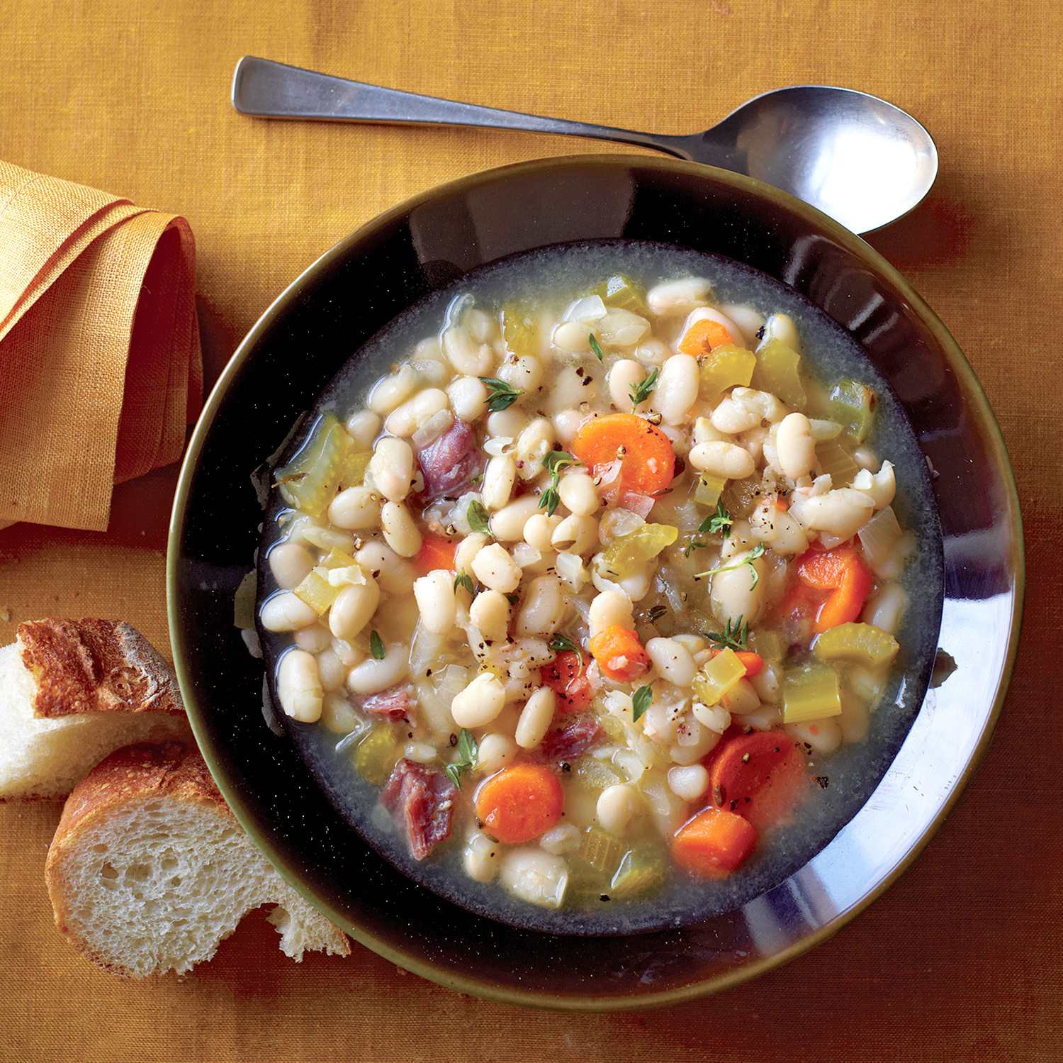 white bean and ham soup