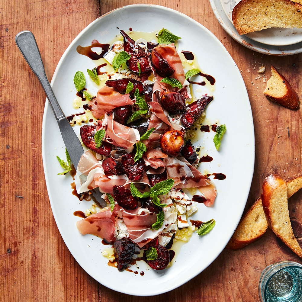 Goat Cheese with Prosciutto & Port-Glazed Figs